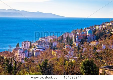 Town Of Opatija Cathedral And Coast View