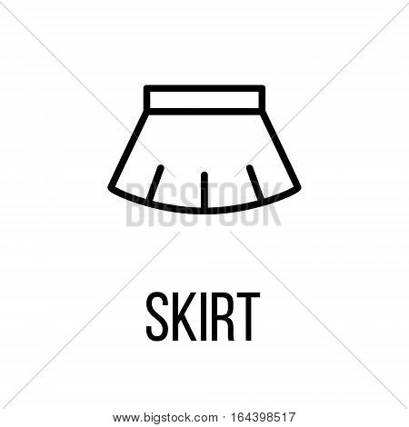 Skirt icon or logo in modern line style. High quality black outline pictogram for web site design and mobile apps. Vector illustration on a white background.