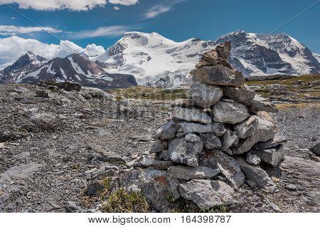 Cairn Atop Wilcox Pass