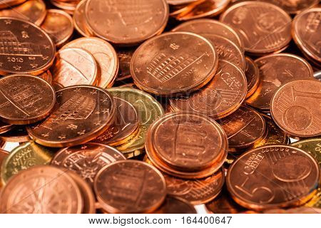 Lot Of Euro Cents