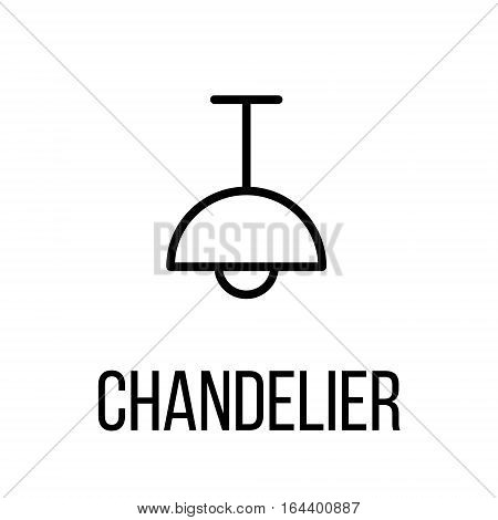 Chandelier icon or logo in modern line style. High quality black outline pictogram for web site design and mobile apps. Vector illustration on a white background.