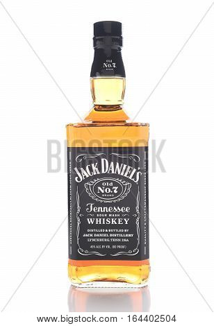 IRVINE CALIFORNIA - JANUARY 8 2017: Jack Daniels Tennessee Whiskey. Produced in Lynchburg TN it is the top selling American Whiskey in the world.