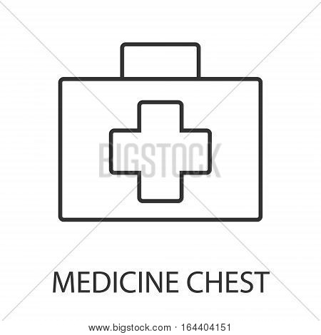 Medicine chest icon or logo line art style. Vector Illustration.