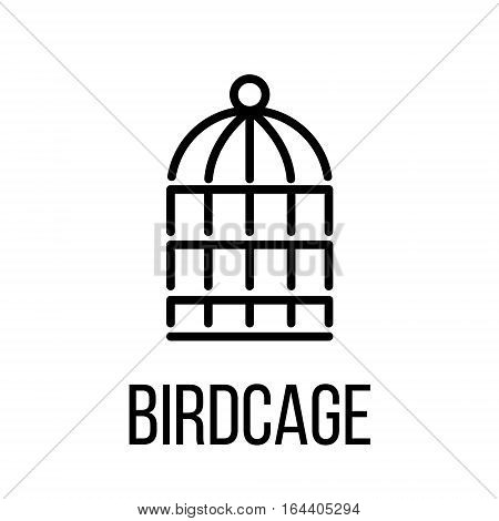 Birdcage icon or logo in modern line style. High quality black outline pictogram for web site design and mobile apps. Vector illustration on a white background.
