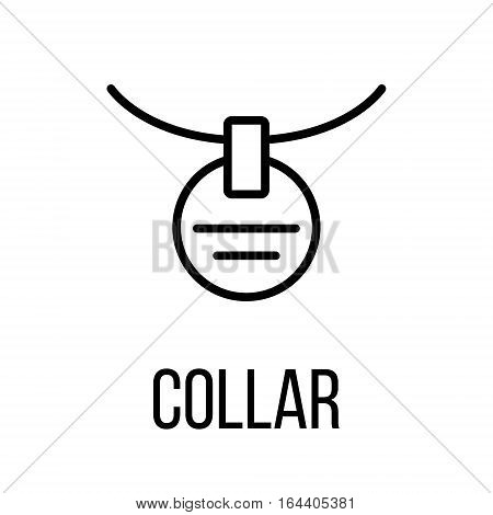 Collar icon or logo in modern line style. High quality black outline pictogram for web site design and mobile apps. Vector illustration on a white background.