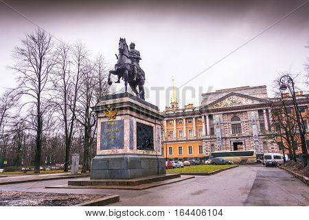 Monument To Peter The Great From The Great-grandson Of Paul, St. Petersburg, Russia.