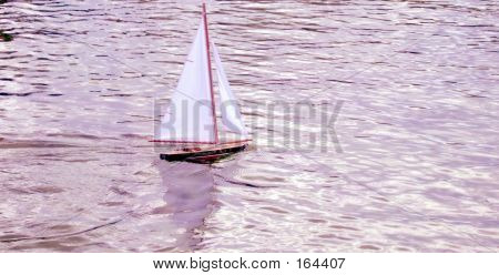 Boat Toy In Lake