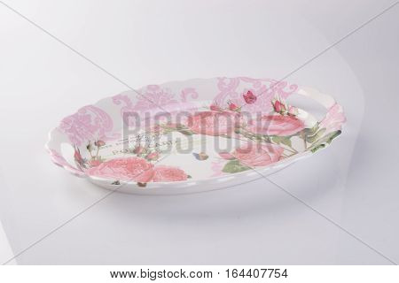 Tray Or Empty Plastic Tray On A Background.
