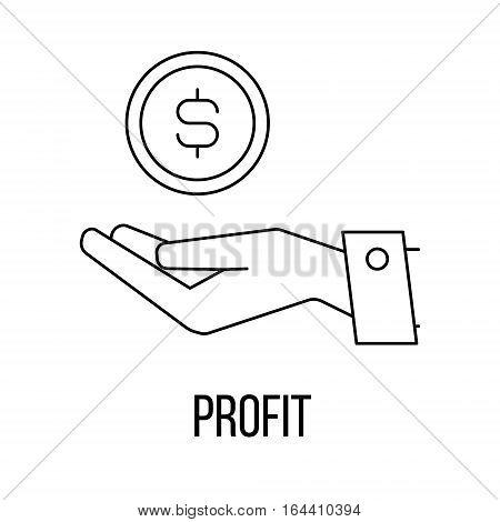 Profit icon or logo line art style. Vector Illustration.