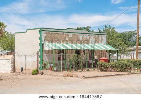 JACOBSDAL SOUTH AFRICA - DECEMBER 24 2016: An historic old house in Jacobsdal a small town in the Free State Province.