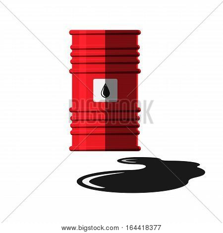 Oil drum container liquid cask storage object. Rows of steel barrel capacity tank vector. Natural production station extracting cartoon old beverage box.