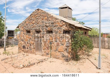 JACOBSDAL SOUTH AFRICA - DECEMBER 24 2016: The blockhouse in Jacobsdal was was used by the English forces to guard over the town during the Second Anglo Boer War