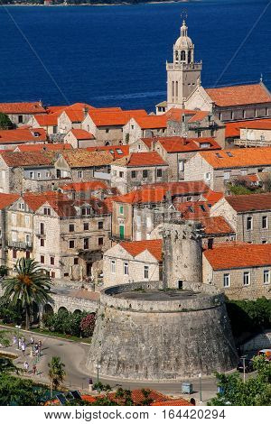 Close View Of Korcula Old Town, Croatia