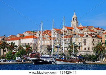 View Of Korcula Old Town, Croatia