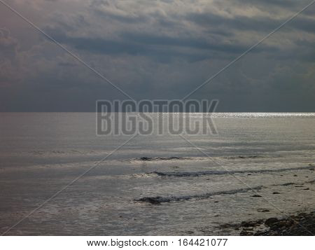 Sea Coast With A Dramatic Sky