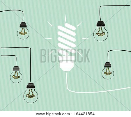 Idea concept - incandescent bulbs on the wires