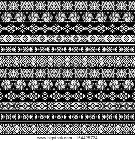 American nativity aztec, tribal peruvian vector seamless pattern. Border pattern tribal of aztec illustration