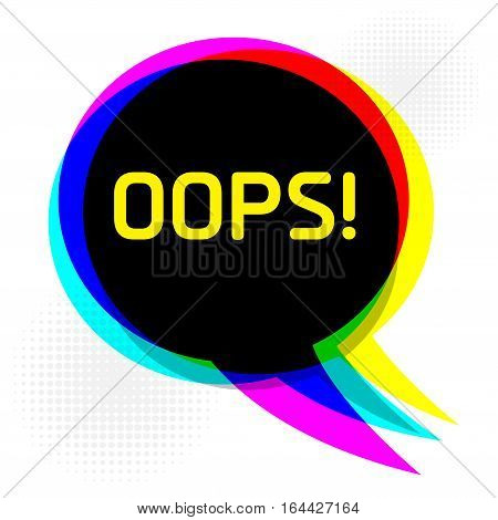 Speech Bubble in Pop-Art Style business concept with text Ops vector illustration