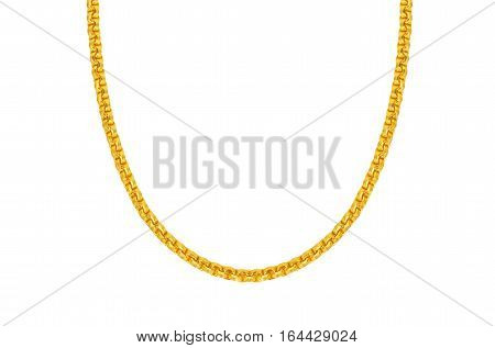 Gold chains isolated on white background Saved clipping path.