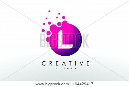Dots Letter L Logo. L Letter Design Vector with Dots.