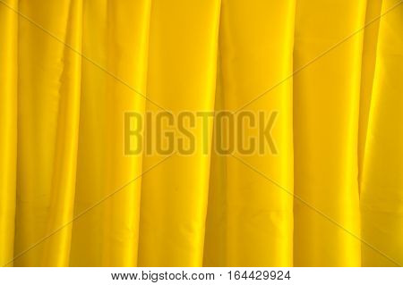 Close up Yellow corduroy fabric abstract texture background