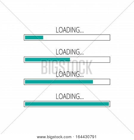 Abstract Composition. Loading Bar Element Icon Set. Creative Web Design Download Timer. Users Comple