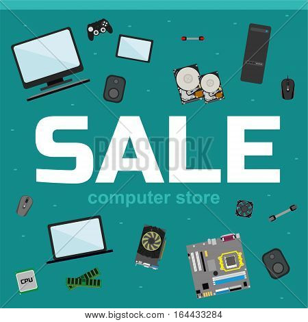 Sale Banner For Computer Store.