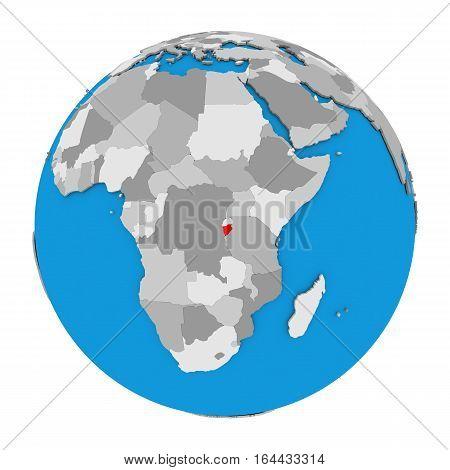 Burundi On Globe