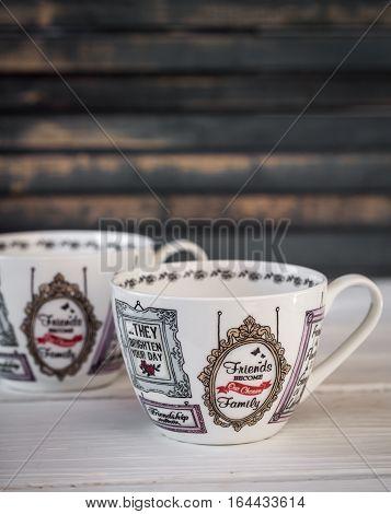 Stylish Beautiful Cup Of Tea