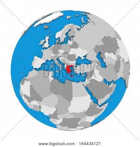 Greece On Globe