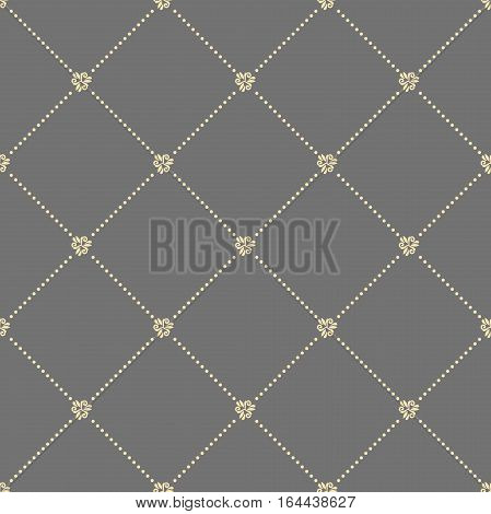 Geometric repeating pattern. Seamless abstract modern texture for wallpapers and backgrounds. Gray and golden pattern