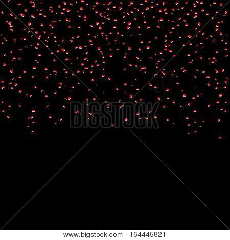 Red Confetti Celebration Isolated Background