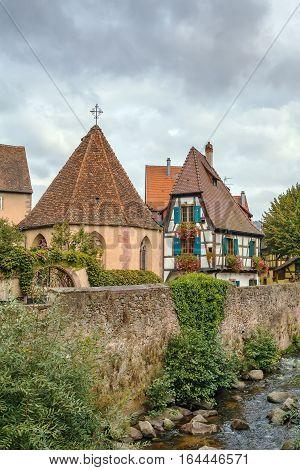 Oberhof Chapel on the Weiss River in Kaysersberg Alsace France