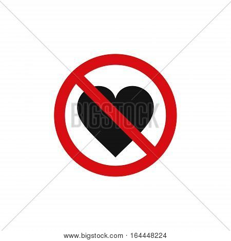 No love heart sign vector isolated symbol.