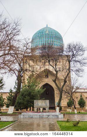 Bibi Khanym mosque Samarkand Uzbekistan 2016 march