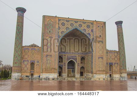 Ulugh Beg Madrasah On Registan Square, Samarkand, Uzbekistan