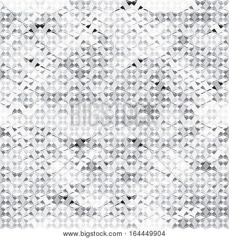 Seamless geometric pattern. Intricate abstract background in gray color. Grayscale pattern for webpage design. Vector