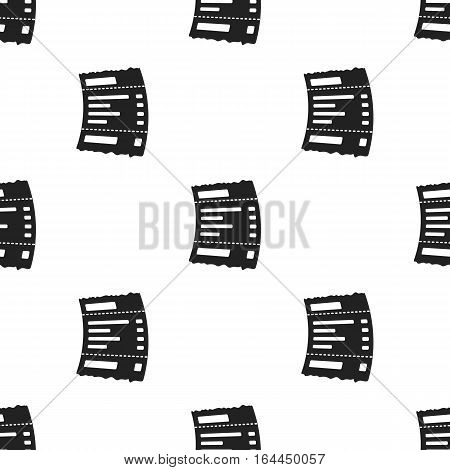 Receipt icon in black style isolated on white background. E-commerce pattern vector illustration.