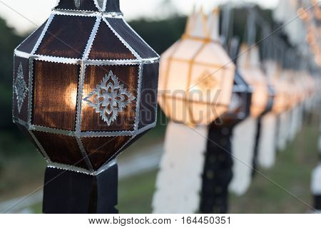 Black And White Festive Hanging Paper Lantern