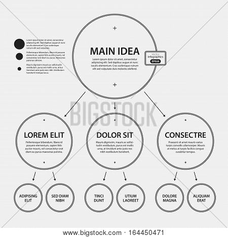 Corporate Design Template On White Background. Useful For Advertising, Presentations And Web Design.