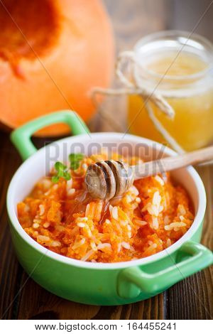 Boiled Pumpkin With Rice And Honey