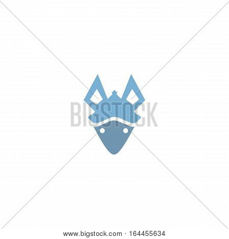 Beautiful fox hemlet isolated on a white background.
