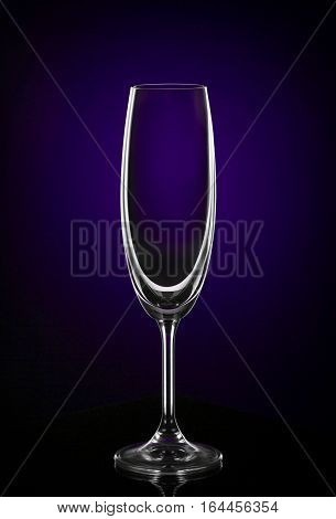 The Empty wine glass on dark background