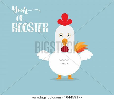 Rooster Year of Rooster Background Cartoon Vector Illustration