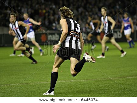Collingwood's Dale Thomas during match against the Western Bulldogs, June 2008