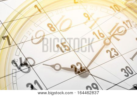 The Clock face and calendar composite for background.