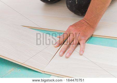Installing Laminate Floor With Wooden Texture