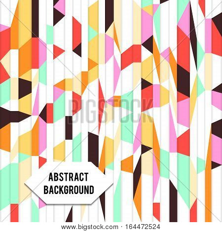 Abstract retro vector paper geometric poster background