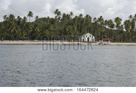 Catholic Church of Saint Benedict in Sheep Beach in Pernambuco northeast Brazil
