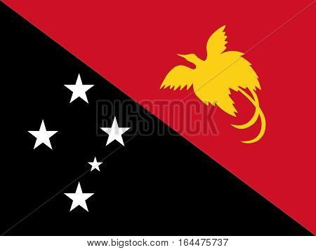 Illustration of the flag of Papua new Guinea
